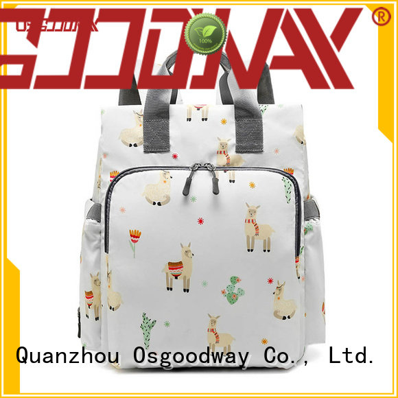 Osgoodway durable stylish backpack diaper bag wholesale for dad