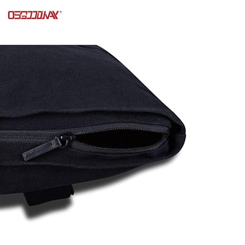 Black Canvas Backpack for Men Women Top Roll Waterproof Canvas Rucksack Backpack-backpack-laptop bac