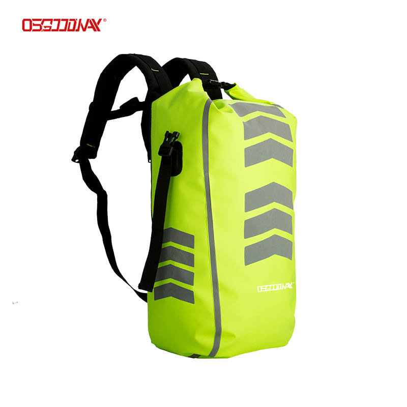 Outdoor high-frequency welded sports hiking highly durable 500D PVC waterproof reflective Cycling Backpack Bag
