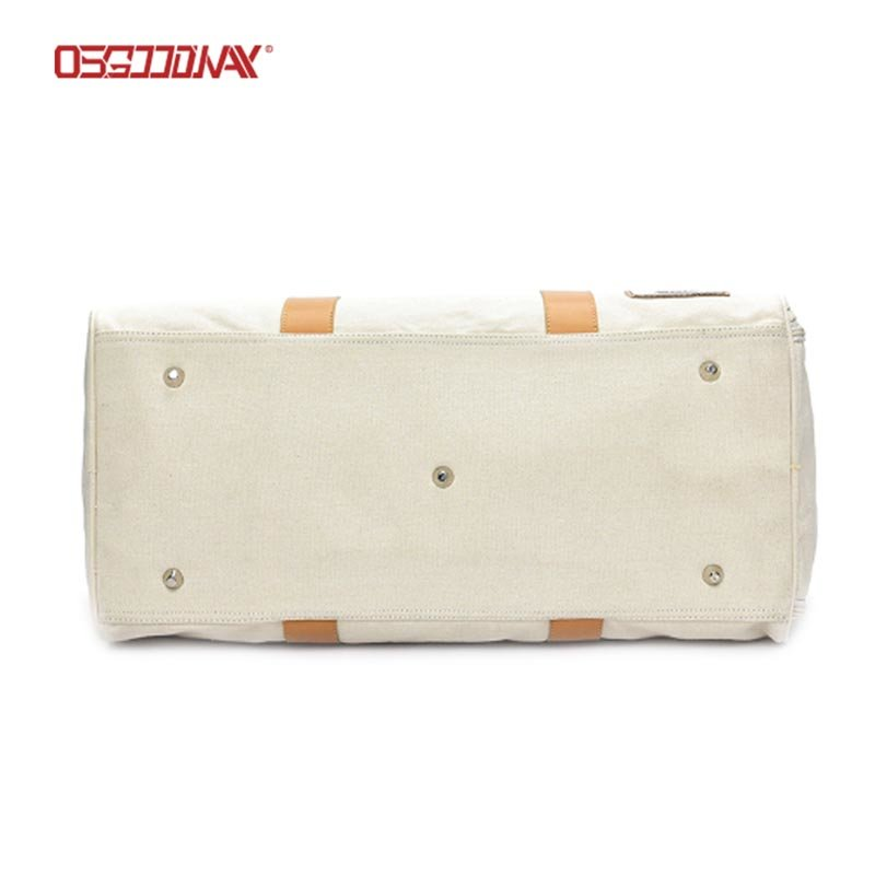 100% Canvas Waterproof Sports Gym Duffel Bag Men Woman Fitness Bags with Shoe Compartment