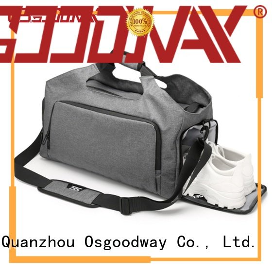 Osgoodway fitness football duffle bag design for gym