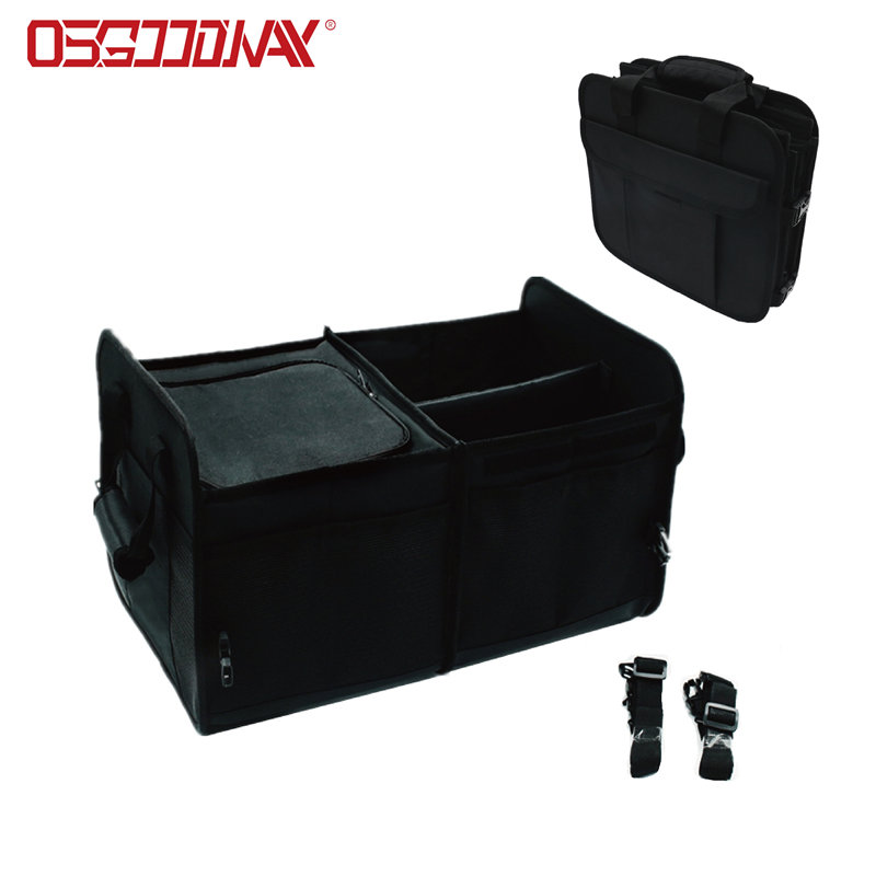 Durable Collapsible Heavy Duty Auto Trunk Storage Organizer with Cooler Compartment