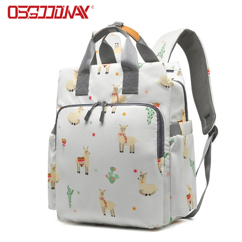 Unisex Back Pack Multifunction Travel Backpack Style Unicorn Diaper Bag with Stroller Straps
