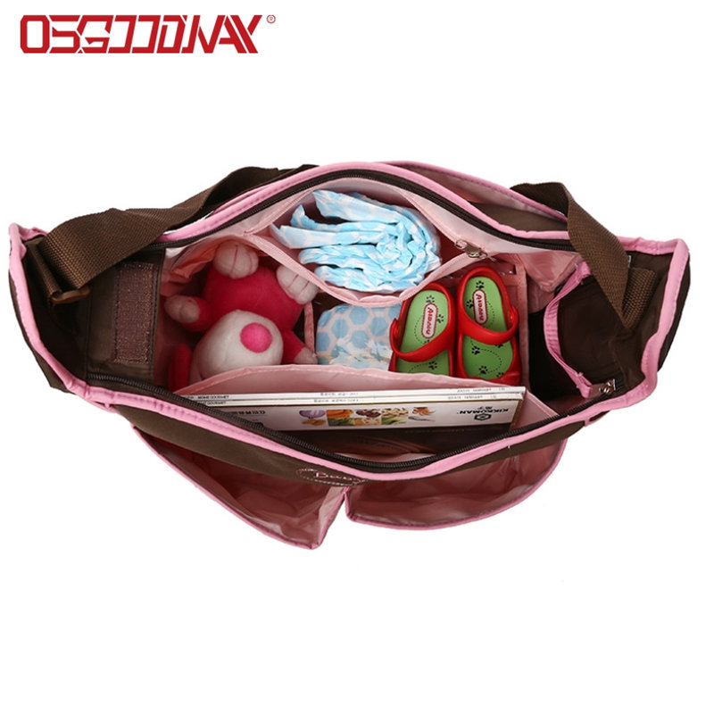 Large Water Proof Pink Backpack Diaper Bag for Mom and Girls with Changing Pad