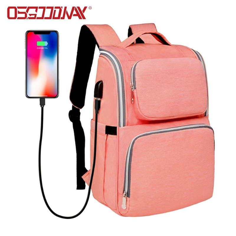 Convertible Backpack Diaper Bag Multi-Function Large Capacity Waterproof Insulation Fashion Mummy Bag
