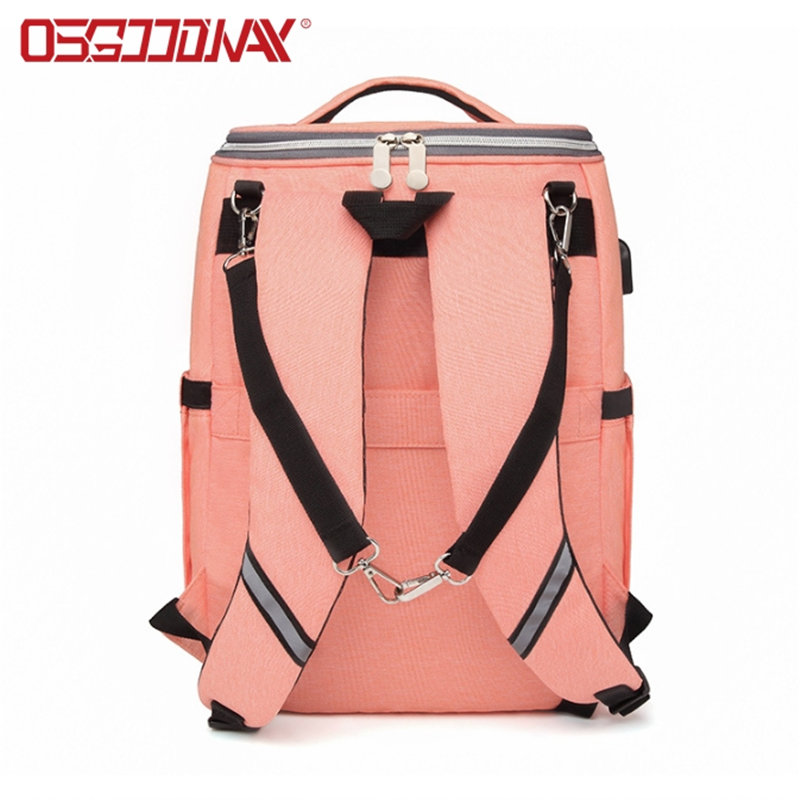 Convertible Backpack Diaper Bag Multi-Function Large Capacity Waterproof Insulation Fashion Mummy Bag