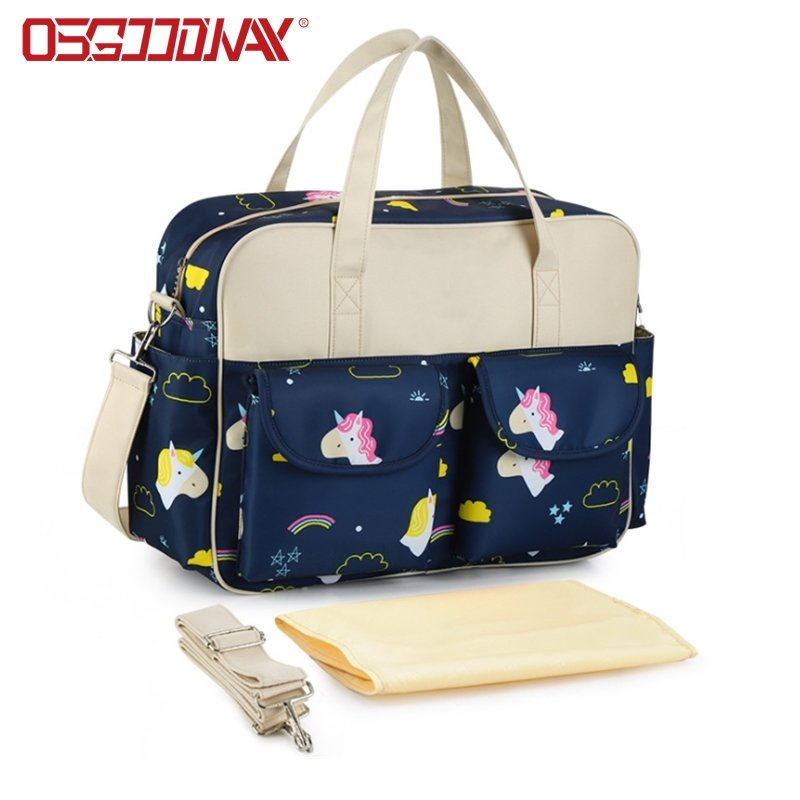 Water-Resistant Messenger Travel Unicorn Diaper Bag with Insulated Pockets