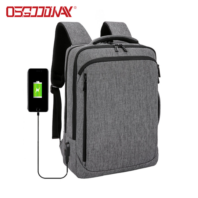 Large Travel Laptop Backpack with USB Charging Port Water-Repellent Casual Daypack