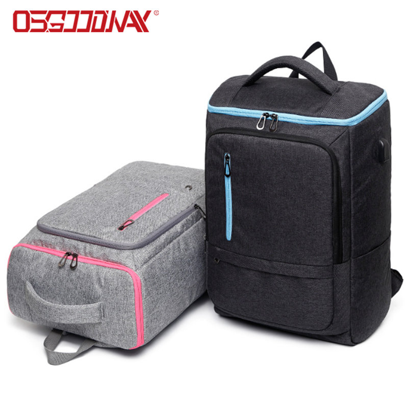 17 Inch Convertible Water Resistant Best Laptop Backpack with USB Charging Port
