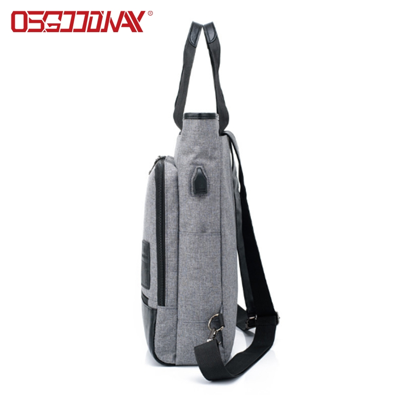 multifunction canvas laptop backpack unisex wholesale for work- backpack, school backpack, duffel ba