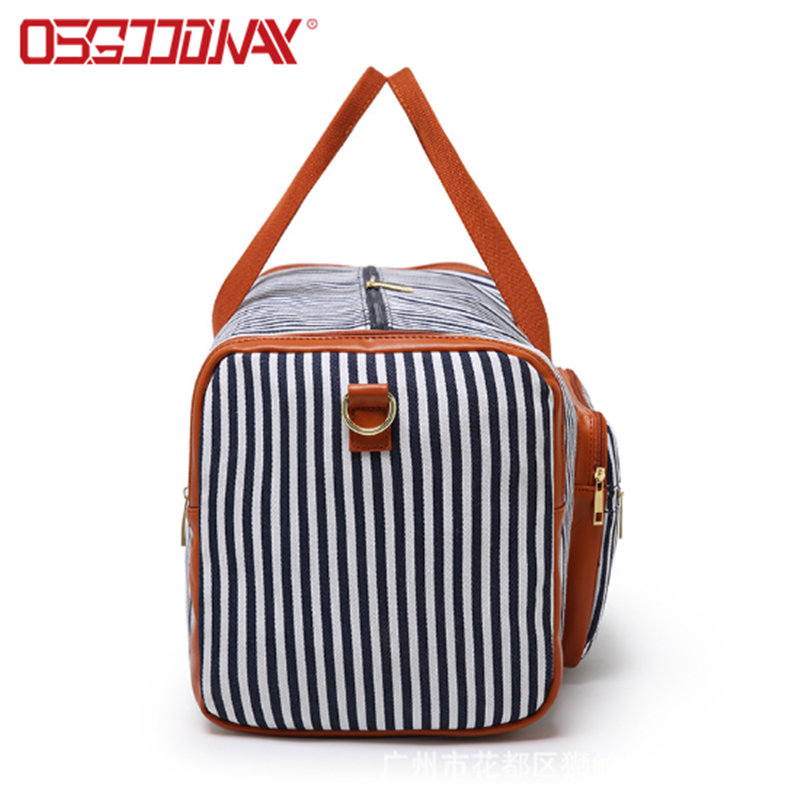 Multi-Functional Canvas Sports Gym Travel Duffel Bag With Shoes Compartment