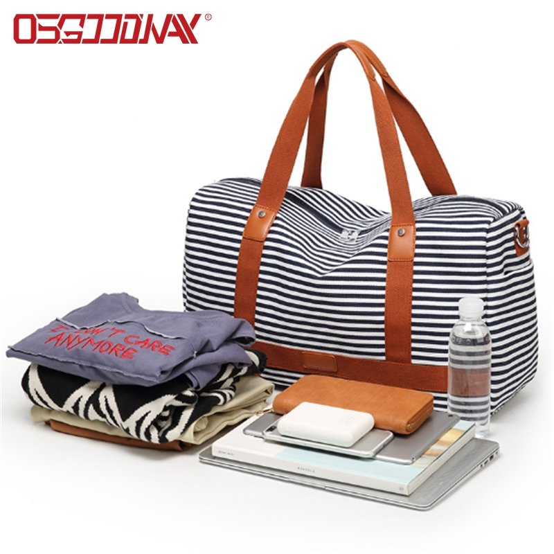 Womens Overnight Weekender Travel Bag Canvas Sports Duffle Bag Carry on Tote Luggage