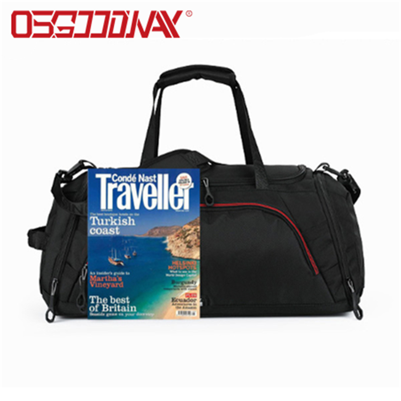 waterproof canvas duffle bag mens with Multi-pockets for fitness-Osgoodway-img