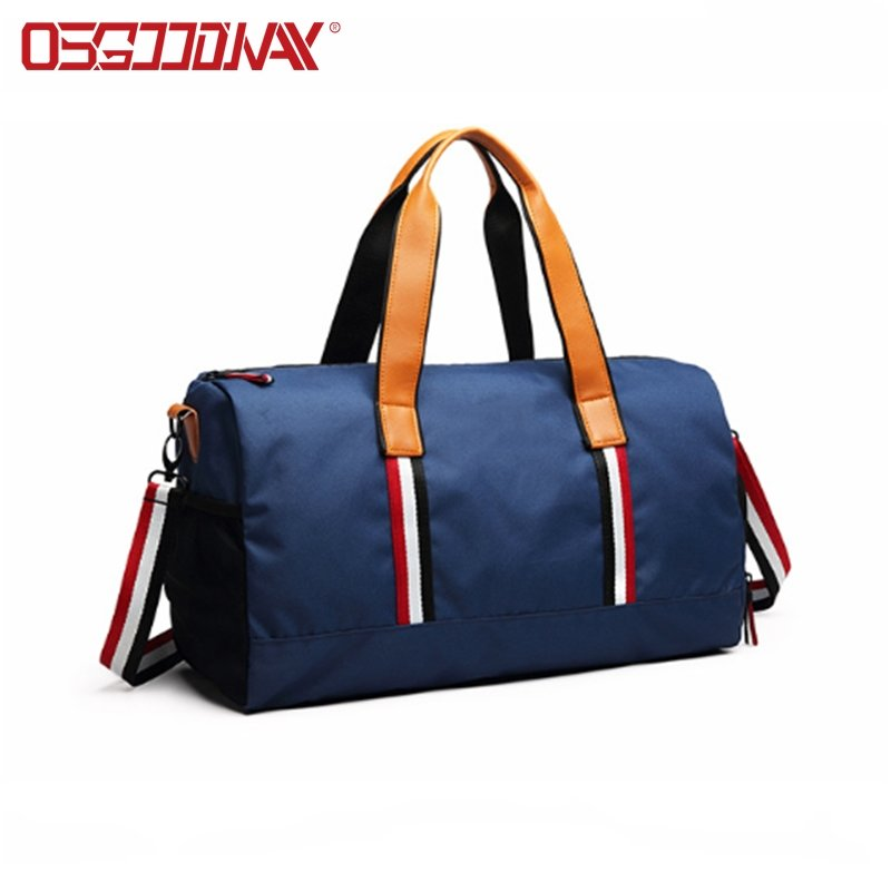 High Quality Water Resistant Gym Sports Duffel Bag with Shoes Compartment