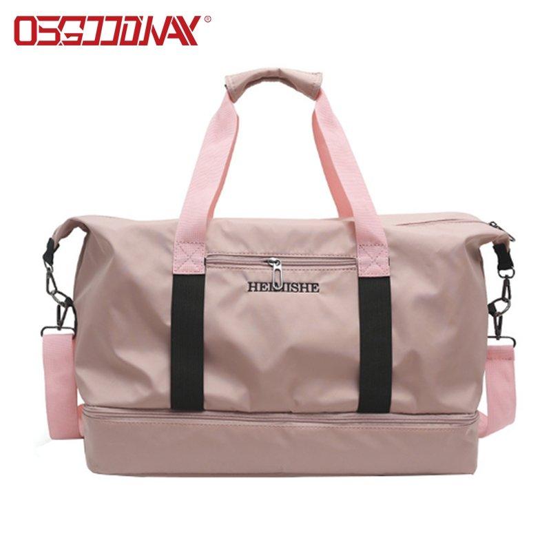 China Factory Large Capacity Gym Travel Custom Logo Duffel Bag