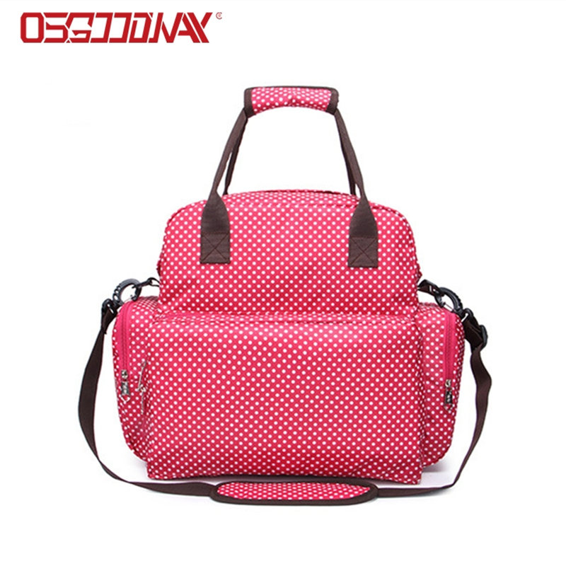 Stylish Tote Convertible Travel Girl Diaper Bag Backpack with Changing Pad