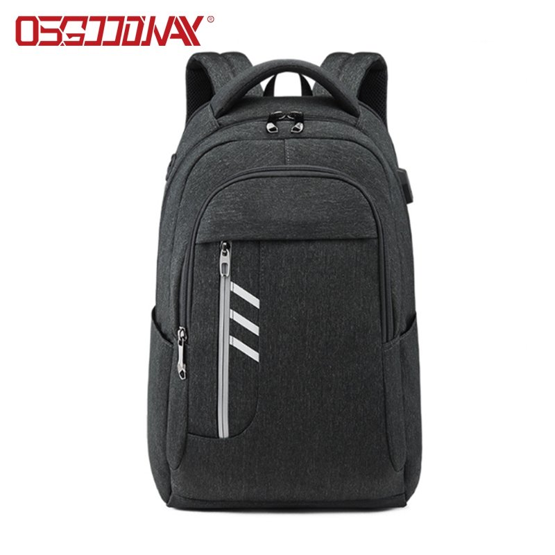 USB Charger Sport 17Inch Laptop Backpack Multi Compartment Mens School Laptop Backpack Bags