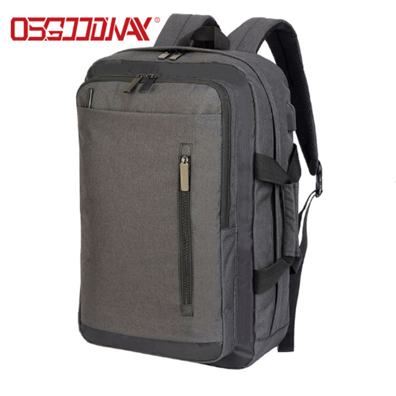 Convertible Custom Laptop Backpack with USB Charging Port Fits Laptop up to 15.6 for Business