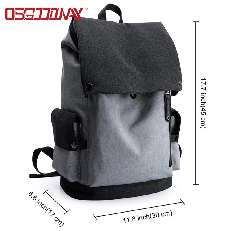 Water resistant Classic minimalist style college backpack bag for Women and Men