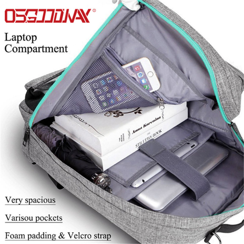Multi-function Lightweight Nylon Backpack Fits up to 17 Inches Laptop Notebook for Men Women