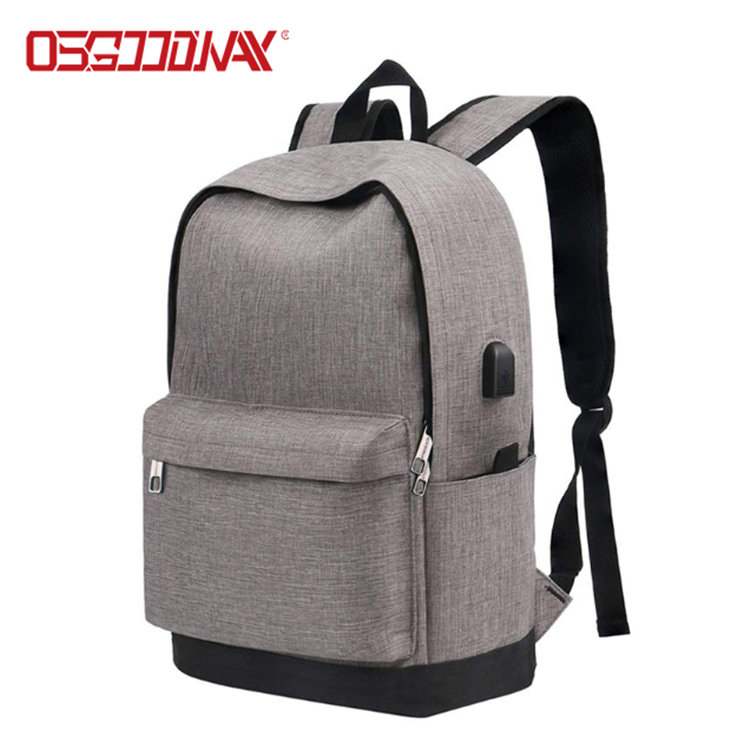 Water Resistant Canvas Backpack Vintage Casual Daypack with USB Charging Port