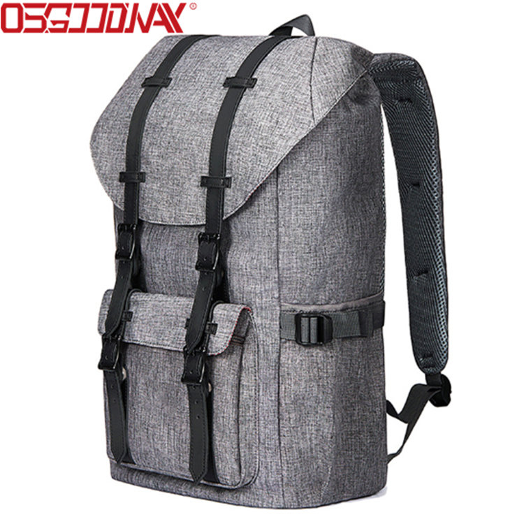"""Large Casual Linen Oxford Fabric Travel Hiking Outdoor Backpack Fits 15"""" Laptop Tablets"""