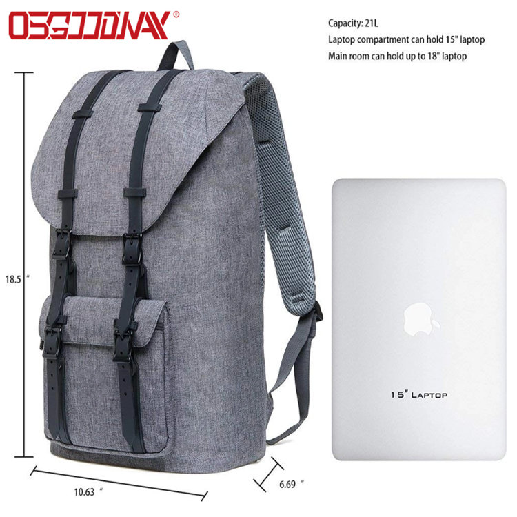 Large Casual Linen Oxford Fabric Travel Hiking Outdoor Backpack Fits 15
