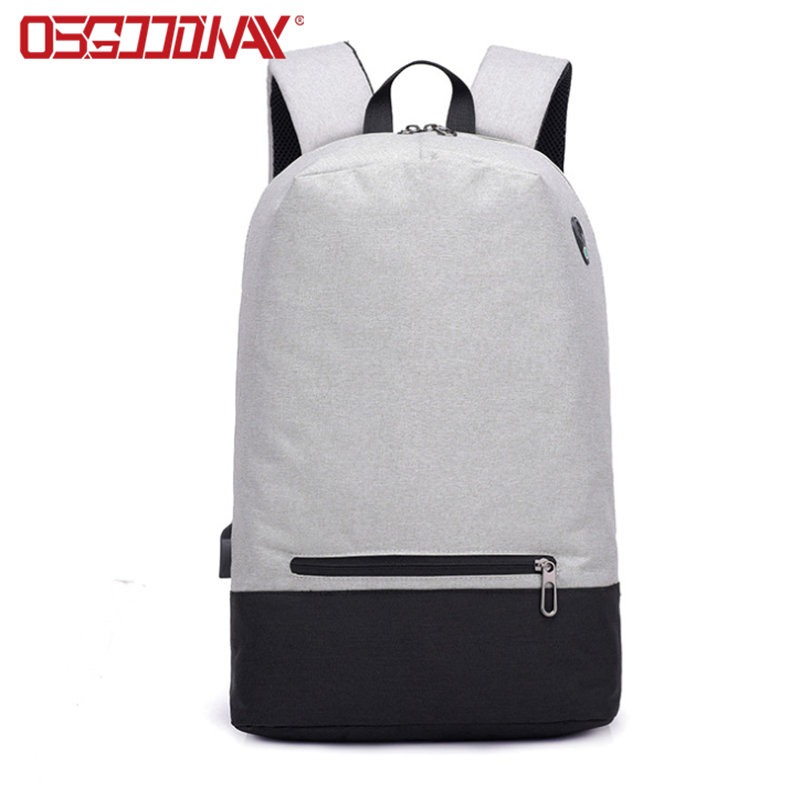 Korean Style Anti-Theft Water Resistant Lightweight Leisure Laptop Backpack Men Women USB Port Slim