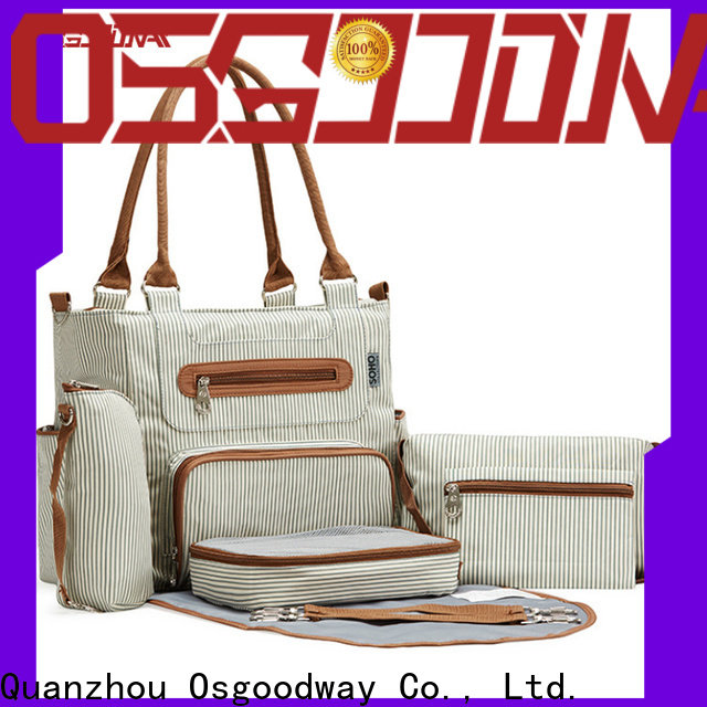 Osgoodway multi-Function stylish diaper bags manufacturer for mom