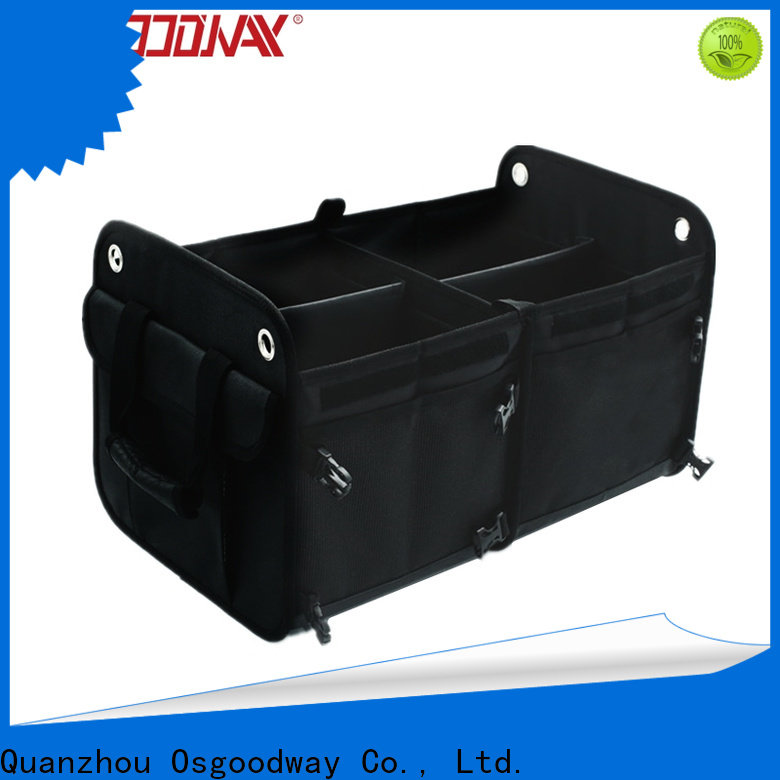 Osgoodway heavy duty folding trunk organizer with cooler bag for truck