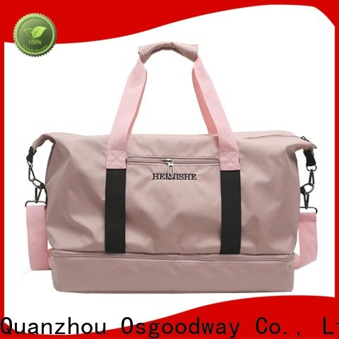 adjustable gym duffle bag with Multi-pockets for travel