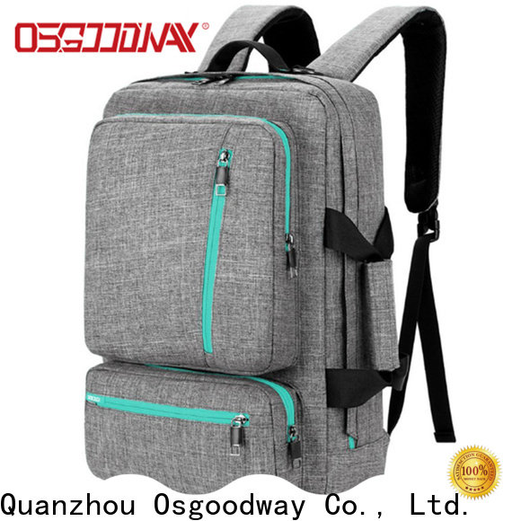 Osgoodway canvas laptop backpack wholesale for men