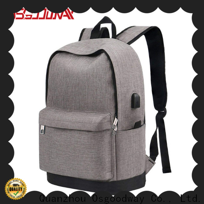 Osgoodway canvas laptop backpack supplier for business traveling