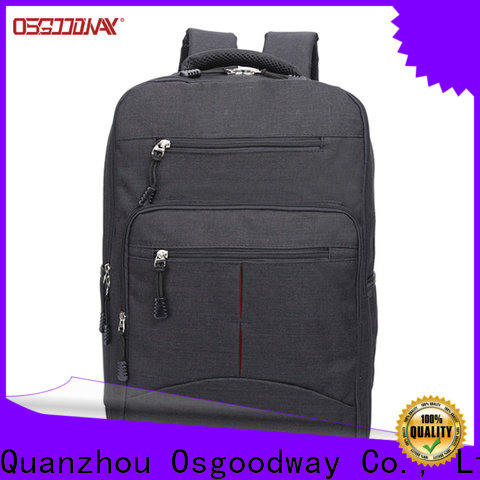 Osgoodway mens canvas backpack factory price for outdoor