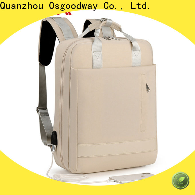 Osgoodway durable laptop backpack anti theft supplier for business traveling
