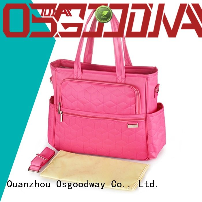 Osgoodway waterproof diaper bag with changing pad easy to carry for picnic
