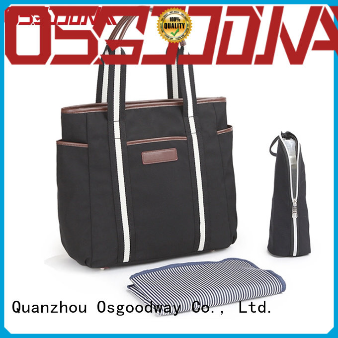 Osgoodway pattern wholesale diaper bags easy to carry for picnic