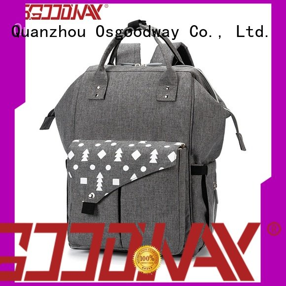 Osgoodway waterproof canvas diaper backpack wholesale for mom