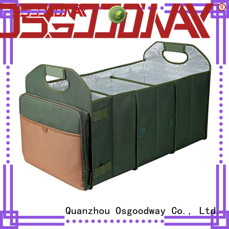 Osgoodway trunk organizer for groceries with cooler bag for truck