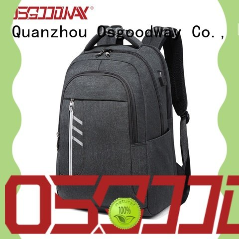 Osgoodway canvas laptop backpack from China for work