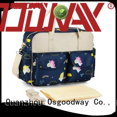 Osgoodway pattern crossbody diaper bag easy to carry for baby care