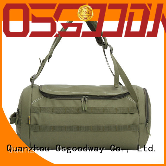 Osgoodway canvas duffle bag with Multi-pockets for sport