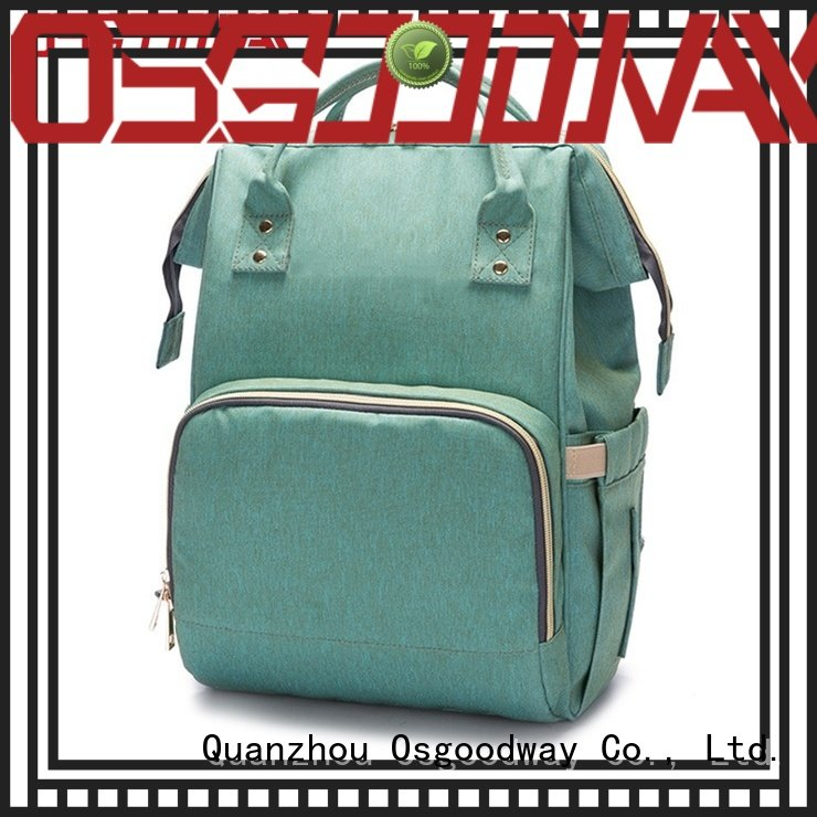 Osgoodway port stylish diaper bags easy to clean for dad