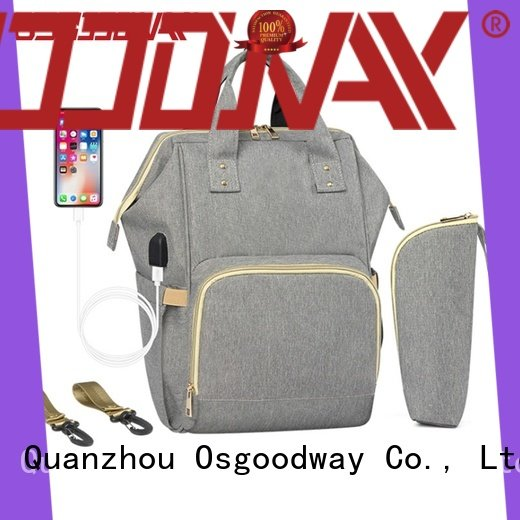 Osgoodway diaper bagpack easy to carry for mom