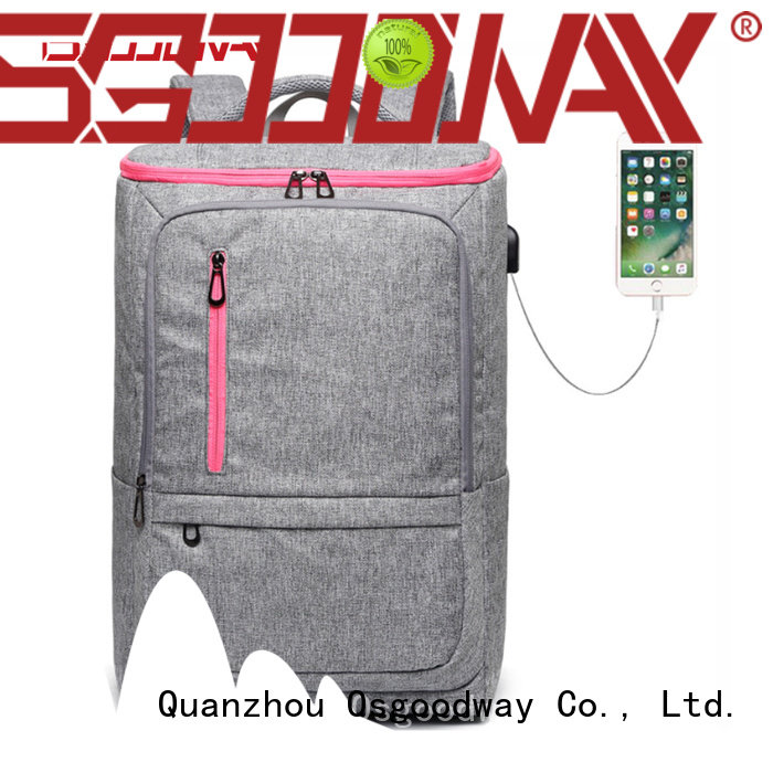 Osgoodway usb laptop backpack for men from China for men
