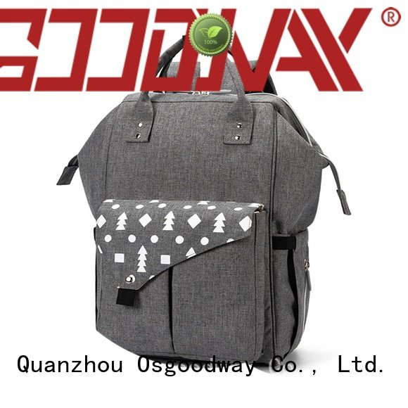 Osgoodway durable personalized diaper bags easy to carry for dad