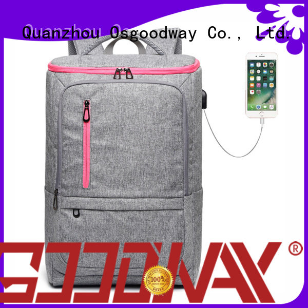 Osgoodway good quality laptop backpack for men supplier for school