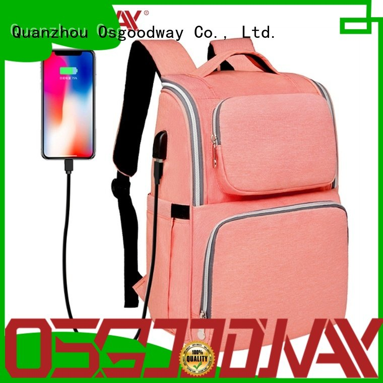 Osgoodway mens diaper bag easy to clean for vacation