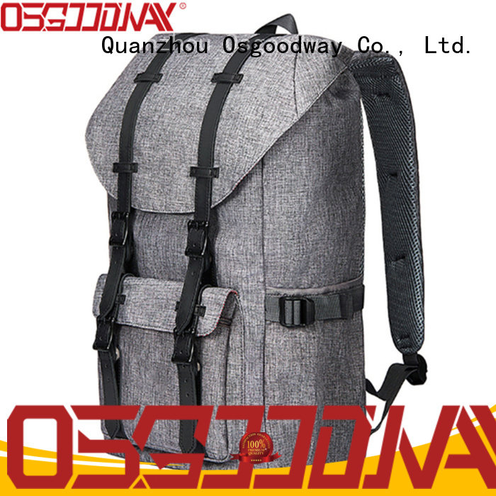 Osgoodway canvas rucksack factory price for travel