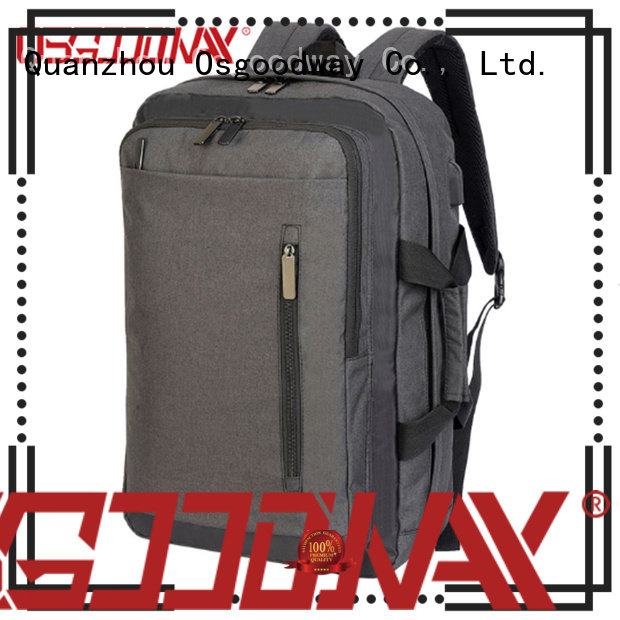 Osgoodway popular convertible laptop backpack from China for business traveling